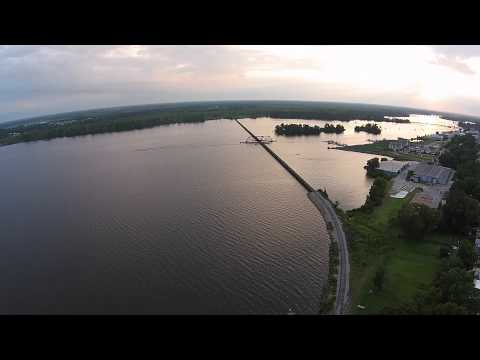 Fly over of the Pamlico River