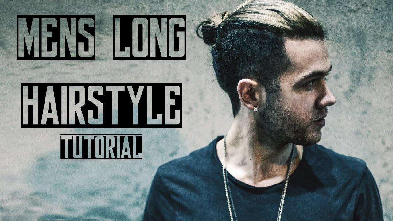 Mens Long Hair Style 2016 Tutorial Quiff Man Bun Youtube