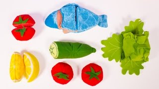 ikea toy cutting peeling velcro fish vegetables cooking duktig toys