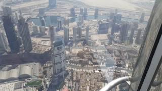 Visiting the 148 floor At The Top Sky (555 meter) Burj Khlalifa Dubai زيارة الطابق 148 برج خليفة دبي