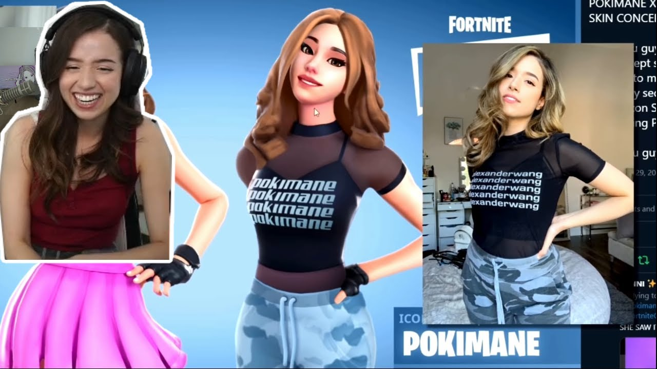 Pokimane Reacts To Logic's First Twitch Stream was a DISASTER   MuchDank and her last Fortnite Skin