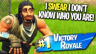 KID PRETENDS HE DOESN'T KNOW IM A YOUTUBER ON FORTNITE! (I Gave Him YouTube Advice)