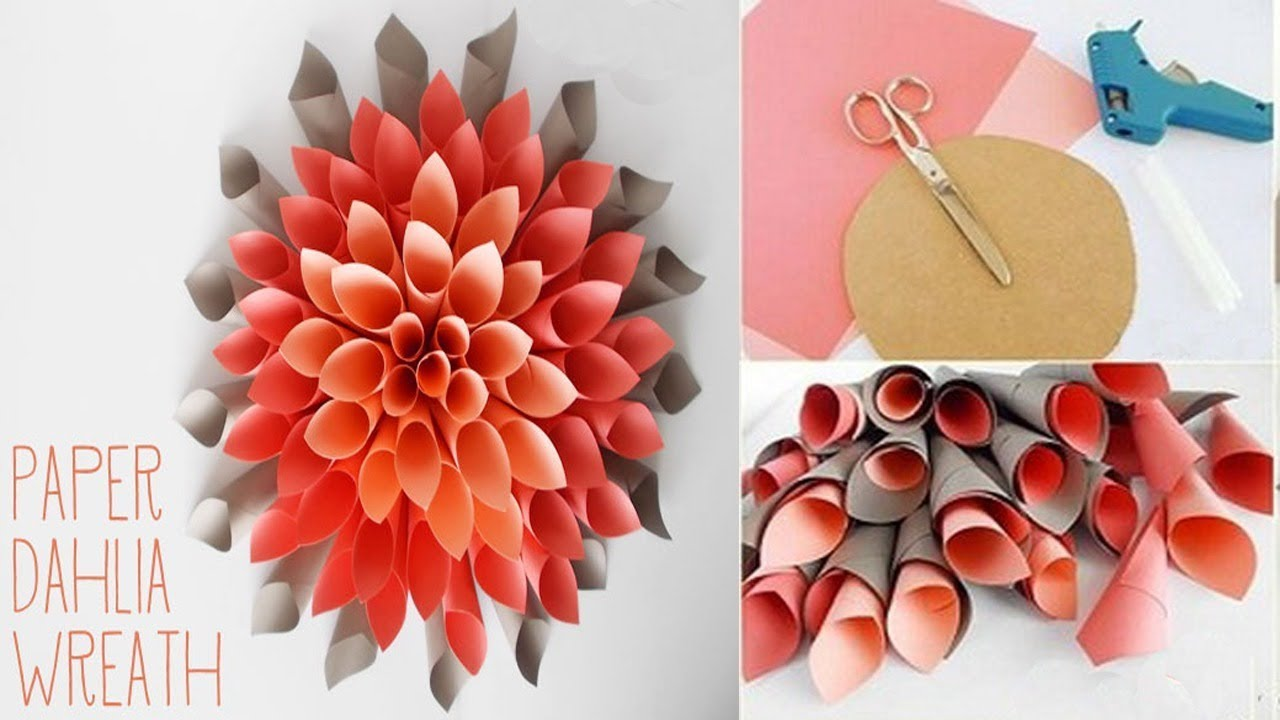 Ide Kreatif Membuat Hiasan Dinding Bunga Dari Kertas Karton
