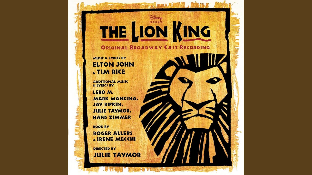 they live in you  from  u0026quot the lion king u0026quot   original broadway