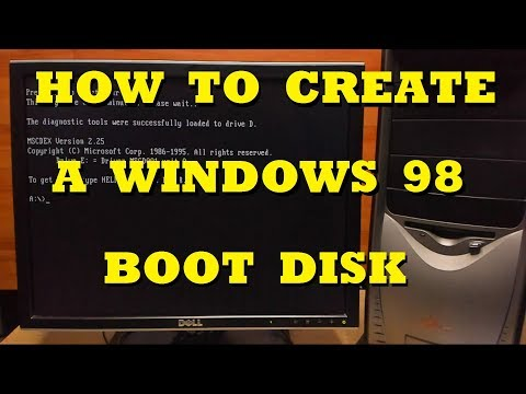 How To Create A Windows 98 Boot Disk