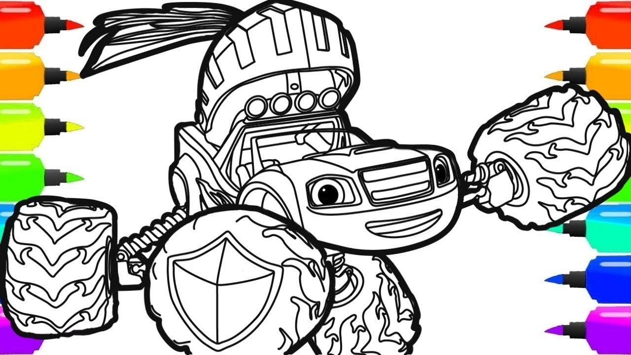 Как нарисовать Вспыш и чудо машинки | Blaze - YouTube