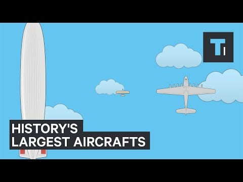 The largest planes in the world dwarf Wright brothers' first plane