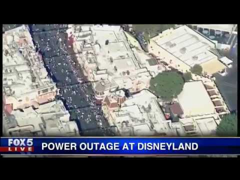 Power outage in portions of Disneyland in California