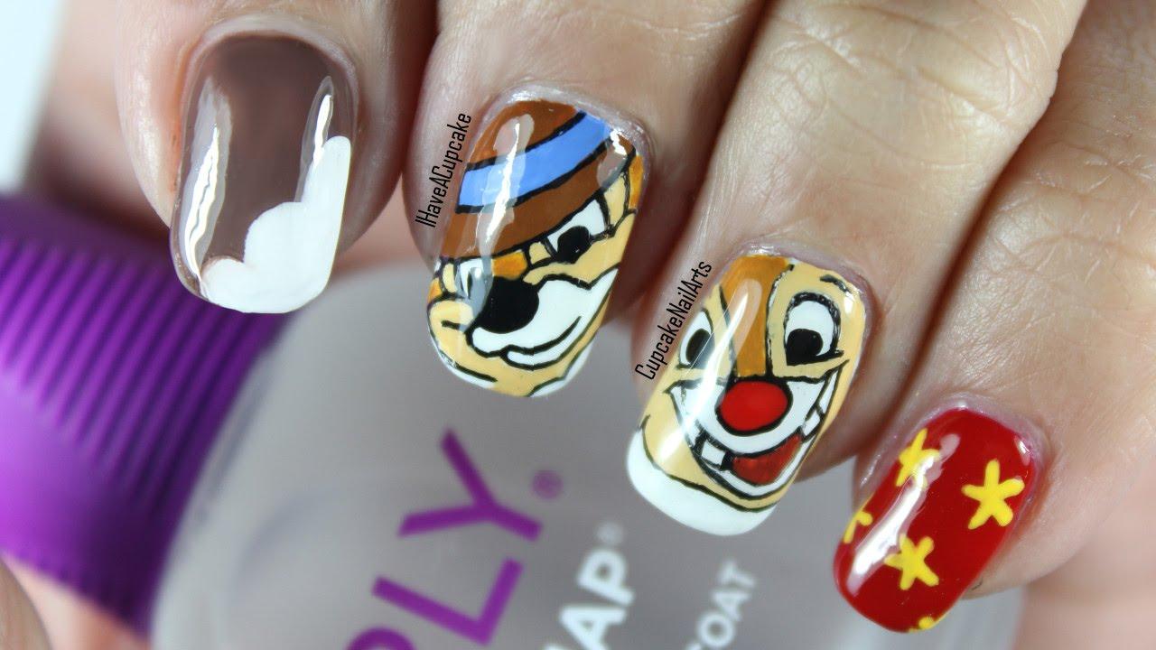 Disney Nail Art *Chip N Dale* - YouTube