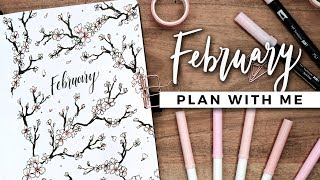 PLAN WITH ME | February 2019 Bullet Journal Setup