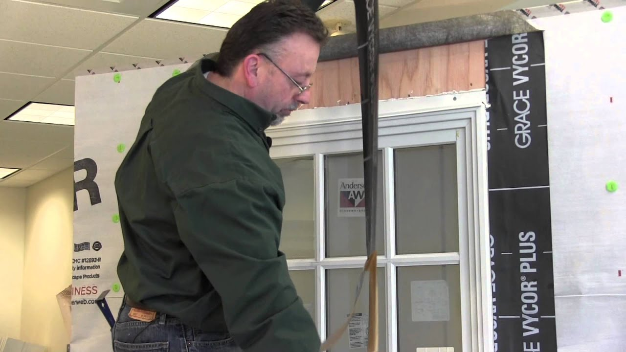 Andersen a series double hung window installation youtube for Installing double hung windows