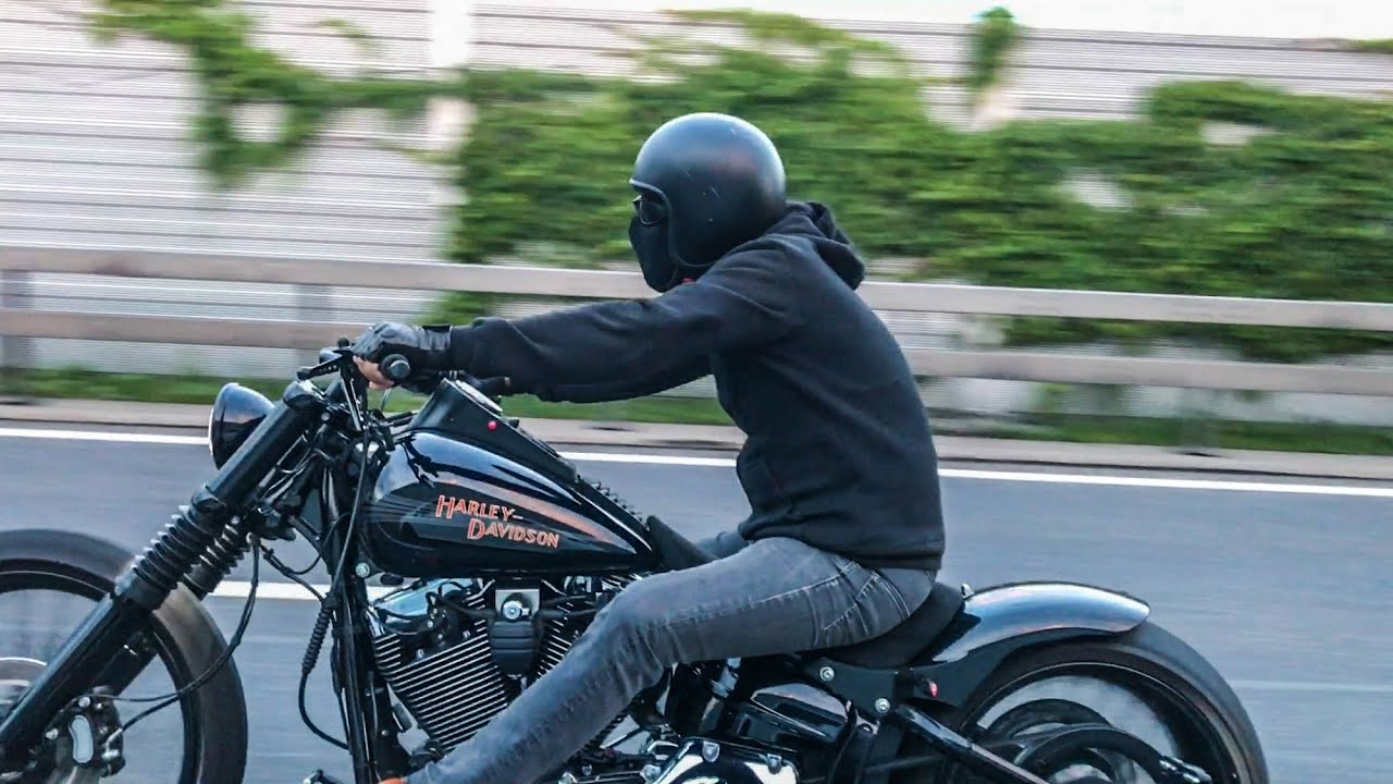 Harley-Davidson Custom FXSB Breakout Slow Shooting - YouTube