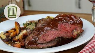 Roastbeef mit Karottengemüse und Cassis-Jus - Festliches Weihnachtsmenü #chefkoch