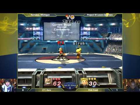 TBH4 - ZeRo (Fox) vs Pink Fresh (Lucas) - Project M Losers Quarters - Smash PM