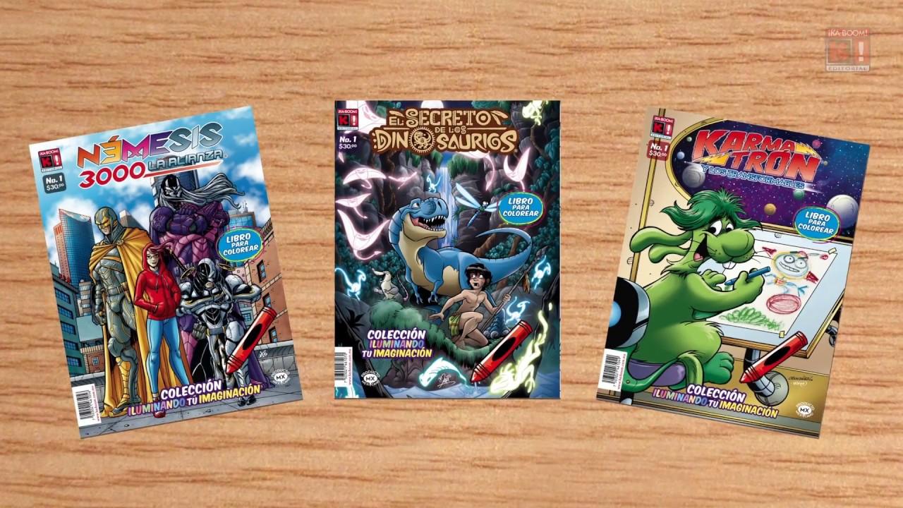 Libros para colorear de ¡Ka-Boom! Editorial - YouTube