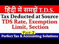How to deduct TDS   TDS Rate   TDS Exemption Limit   What is TDS   tds   Tax deduction at source  