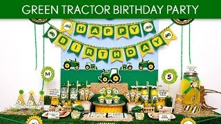 Green Tractor Birthday Party Ideas // Green Tractor - B111