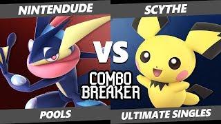 CB 2019 SSBU - Nintendude (Greninja) Vs. Scythe (Pichu) Smash Ultimate Tournament Pools