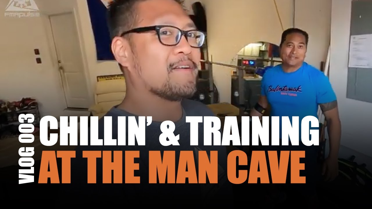 CHILLIN' AND TRAINING AT THE MAN CAVE | VLOG 003