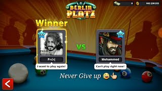 8 ball pool / Never Give up While Playing Epic Trick shot😂 Berlin platz