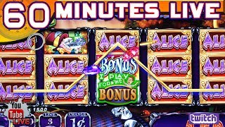 🔴 60 MINUTES LIVE ★ ALICE & THE MAD TEA PARTY ★ LIVE FROM THE SLOT MUSEUM