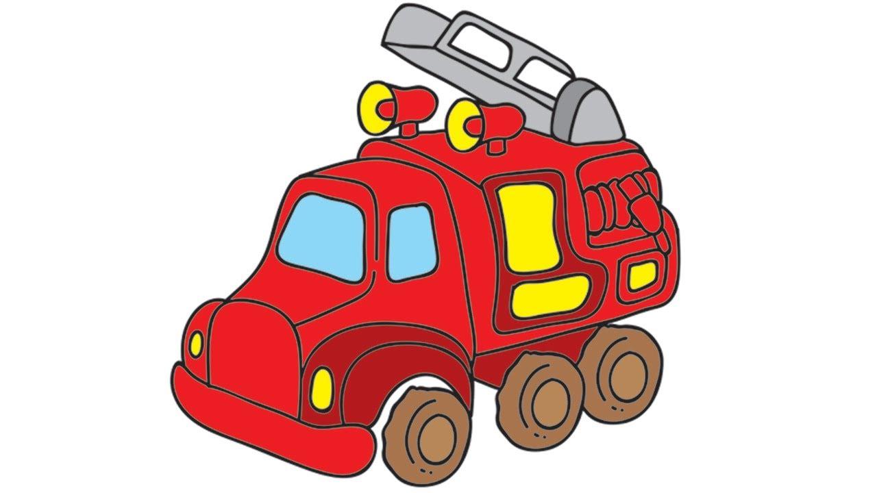 Mes jouets pr f r s le camion de pompiers et l 39 ambulance youtube - Dessin pompier facile ...