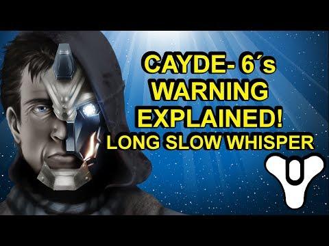 Long Slow Whisper explained! Cayde-6's warning Destiny 2 Forsaken   Myelin Games