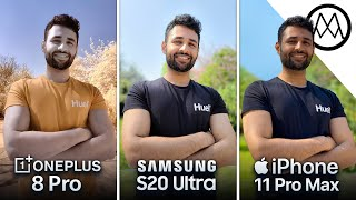 OnePlus 8 Pro vs Samsung S20 Ultra vs iPhone 11 Pro Max Camera Test Comparison!