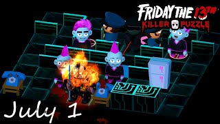 Friday the 13th Killer Puzzle Daily Death July 1 2020 Walkthrough