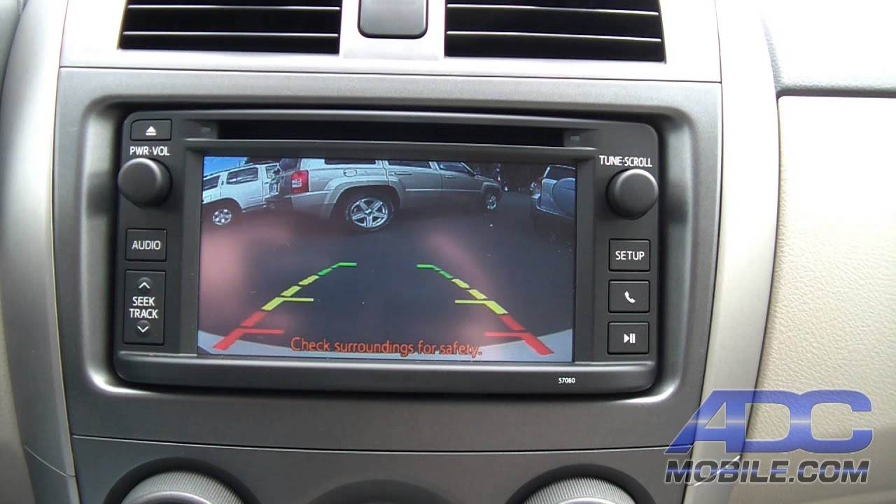 2014 Corolla Radio Wiring Diagram 2013 Toyota Corolla Tcp12cam Rear Camera Operation Youtube