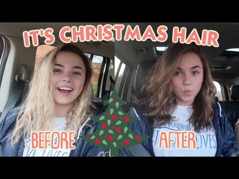 It's When She Dyes Her Hair Brown for Christmas!