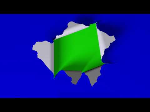 Green Screen Logo Reveal Effect - Paper tearing / ripping open - Free Download