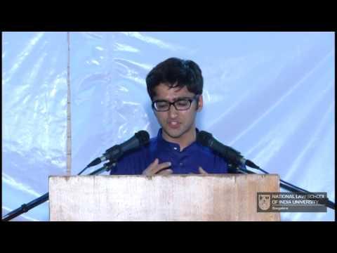 Vanshaj Jain : Xth Student Bar Debate, NLSIU Bangalore