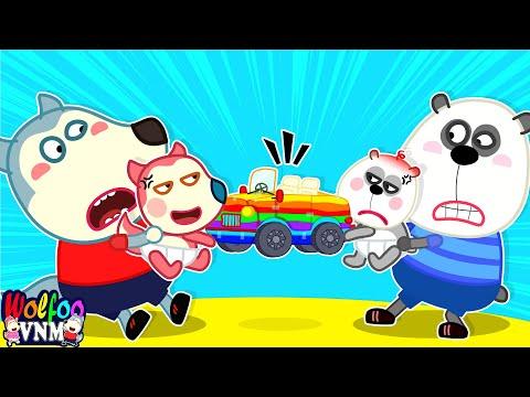 Xe Cầu Vồng Dành Cho Ai? - Wolfoo Tự Làm Đồ Chơi Ô Tô Đầy Màu Sắc | Phim Hoạt Hình Wolfoo Tiếng Việt