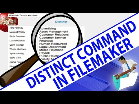 Distinct Command in FileMaker
