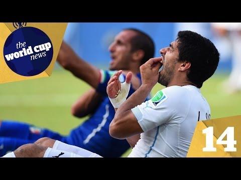 Suarez bite & Italy vs Uruguay reaction plus Ivory Coast crash out vs Greece   Day 14