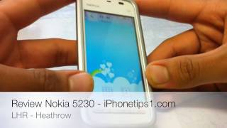 Nokia 5230 Hands On Review HD(Nokia 5230 Review and Comparison with iPhone 3GS My Website - http://iphonetips1.com Follow me on Twitter - http://twitter.com/iPhonetips1., 2010-07-27T01:09:26.000Z)