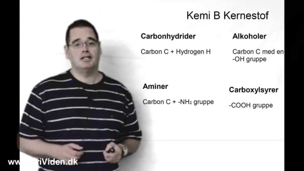 KemiB fra carbonhydrid til ester kernestof