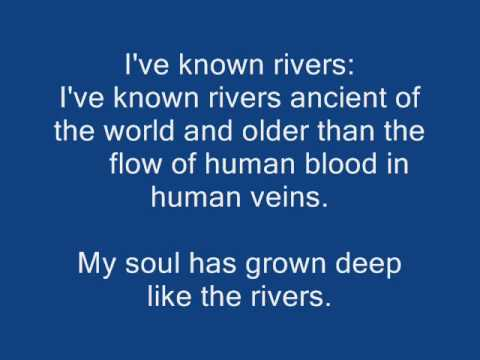a critique of the negro speaks of rivers by langston hughes Langston hughes negro is quite a rare and popular topic for writing an essay new topic a dream deferred langston hughes analysis negro speaks of rivers' by langston hughes, 1921 in this poem, 'the negro speaks of rivers'.
