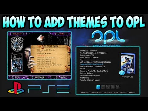 How to install OPL PS2 theme - Playstation software and PC