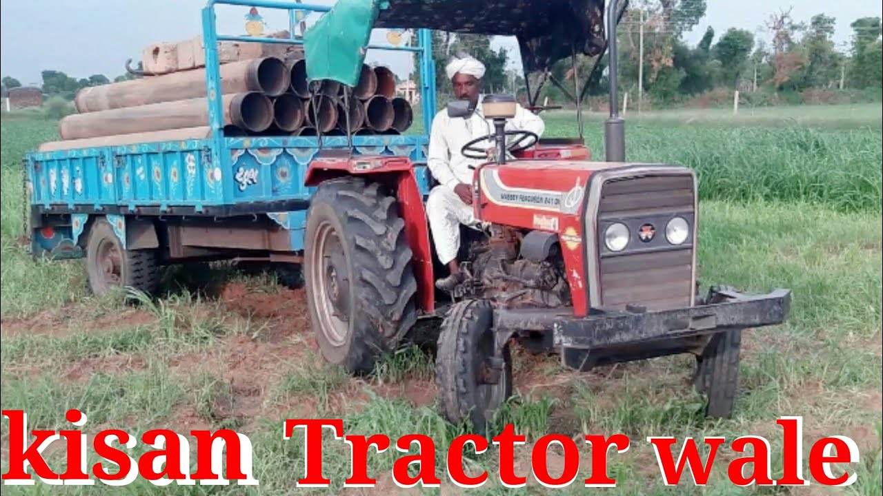 Massey tractor का ड्राईवर सही हो, तो ट्रोली में भी चलेगा,