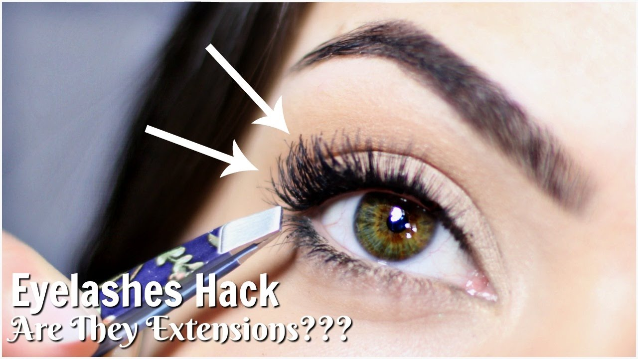 e98c2db35c5 Applying False Eyelashes Hack   To Look Like Lash Extensions ...