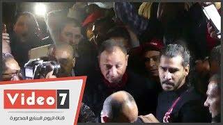 انتخابات الأهلى.. استقبال حافل للخطيب فى مقر النادى