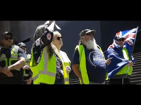 Yellow Vest Protest Victoria Australian Front of Parliament House