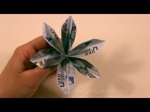 Geldscheine Falten Blume Geldgeschenke Basteln Geld Falten
