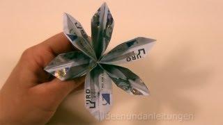 Repeat youtube video Geldgeschenke basteln: Blume