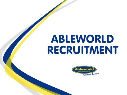 Recruitment at Ableworld