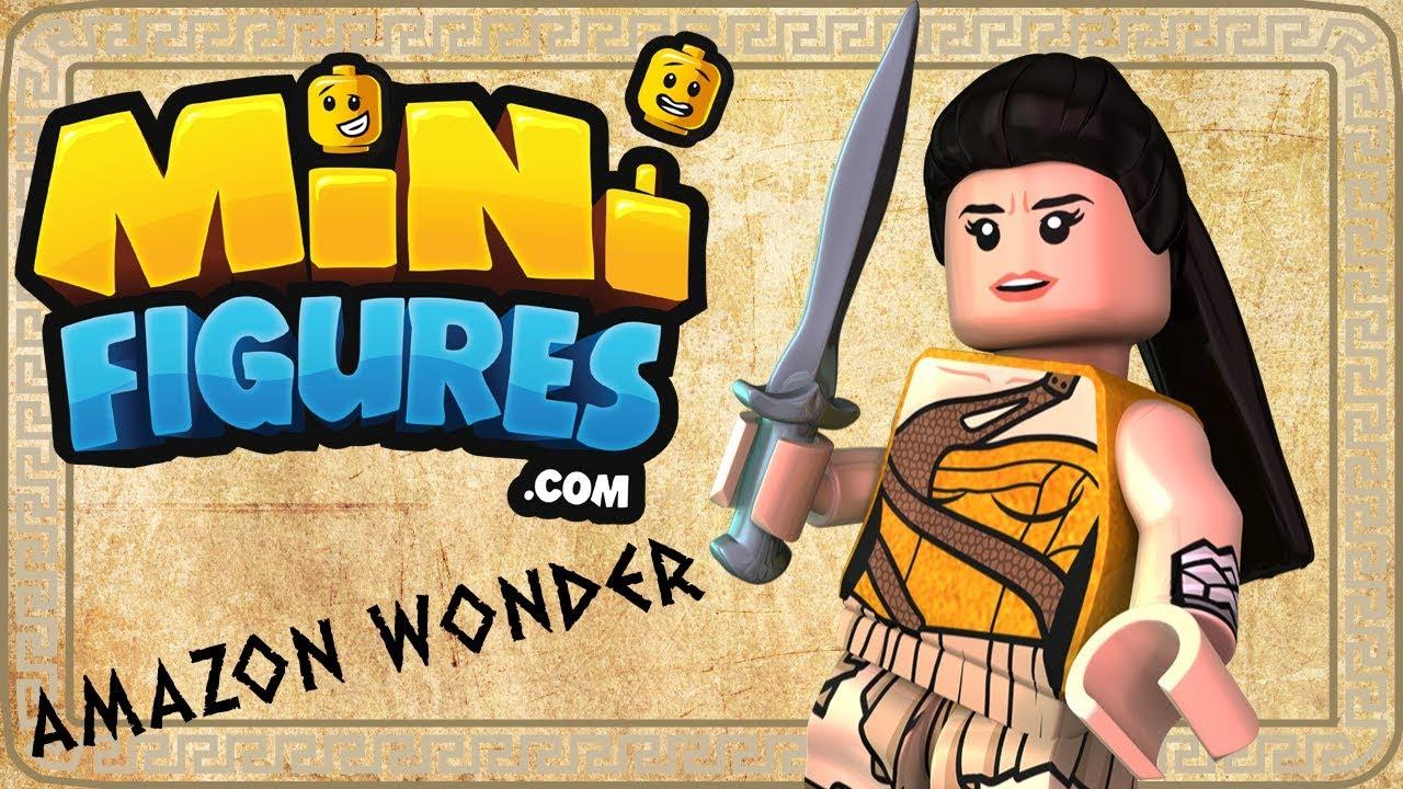 Custom Printed AMAZON Wonder Woman Minifigure Genuine Lego NEW