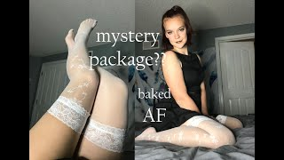 Unboxing my mystery package(while fully baked)