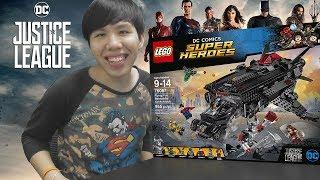 ต่อเลโก้ Justice League รวมทีมซุปเปอร์ฮีโร่พิทักษ์โลก【LEGO: Flying Fox: Batmobile Airlift Attack】